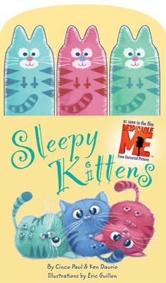 Sleepy Kittens Book-from Despicable Me