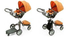 Orange innovative baby stroller