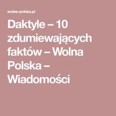 Daktyle – 10 zdumiewających faktów – Wolna Polska – Wiadomości