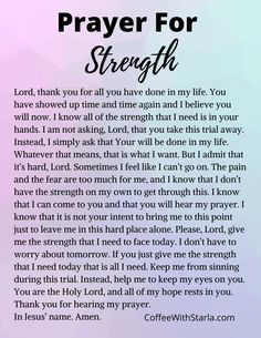 Bible Verses for Strength. Here is a list of 30 bible verses for strength during the hard days. Use this list and prayer for strength every day! Prayer Scriptures, Bible Prayers, Faith Prayer, Strength Prayer, Prayer For Wisdom, Pray For Strength, Prayer Prayer, Night Prayer, Prayer For Guidance