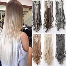 100% Real Natural  Clip in Hair Extensions 8 Pieces