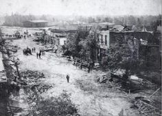 On April 24, 1908, at approximately 4:10 p.m., the city of Albertville was completely destroyed by a tornado.