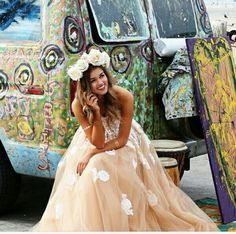 Sadie Robertson in a Sherri Hill dress