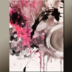 Original Abstract Canvas Art Painting 18x24 by wostudios on Etsy, $69.00