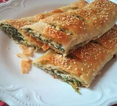 Greek Recipes, Desert Recipes, Filo Recipe, Brunch Recipes, Breakfast Recipes, Pizza Tarts, Savory Pastry, Spinach And Feta, Spinach Recipes