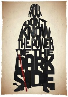 Typographic Posters Of Iconic Star Wars Quotes