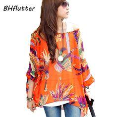 Blusa tops de seda moda feminina novidade 2015, mini vestidos femininos tamanho extra plus size 5G, 6G, 7G, vestido de verão estampa floral
