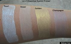 e.l.f Essential Eyelid Primer Swatches.