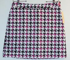 EP Pro Multi Houndstooth Check Skirt. Free shipping and guaranteed authenticity on EP Pro Multi Houndstooth Check Skirt at Tradesy. Chic golf skort from EP Pro in a purple and black ...