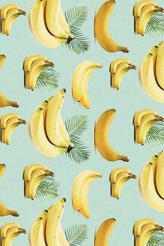 Bananas + palm tree leaves