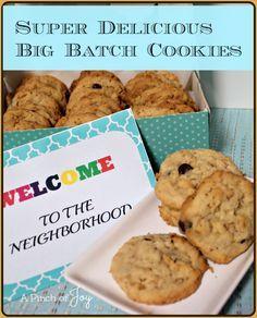 Super Delicious Big Batch Cookies  - A Pinch of Joy
