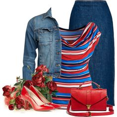 """""""Red White & You"""" by countrycousin on Polyvore"""