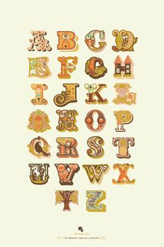 An absolutely darling animal filled alphabet by Jeanie Nelson. #vintage #animals  #prints #alphabet #letters #fonts #typography #kids #cute #fun