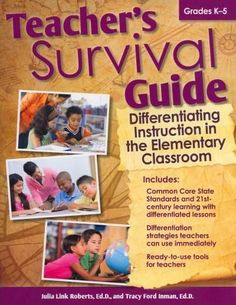 """Whether you're a new teacher or just new to differentiation, it's easy to feel overwhelmed with the nuts and bolts of differentiating instruction for all learners. """"Teacher's Survival Guide: Different"""