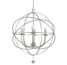 - Overview - Details - Why We Love It - The orb that started it all. This solaris chandelier is modern and chic - everything you would want in this new lighting trend. The Solaris collection features
