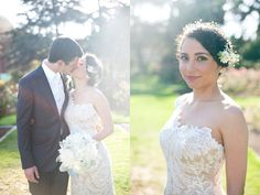I am freaking out over the bodice of this bride's dress! Via Ruffled.