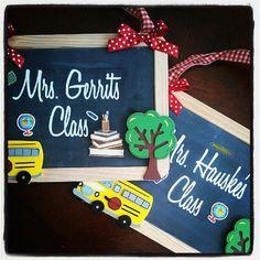 Personalized Teacher Chalkboard Sign by ToniAyne on Etsy, $15.00