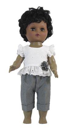 "Aqua Print Doll Dress for 12/"" Detroit Goodfellow Donation Doll Clothes"