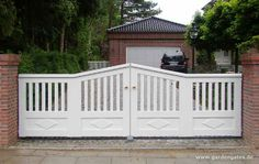 • • Luxury Garden Gates, Garden Benches - made in Germany - final white painted - 25 Years Warranty