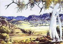 Works on Paper - Albert Namatjira - Page 3 - Australian Art Auction Records Aboriginal History, Aboriginal Culture, Aboriginal Painting, Aboriginal Artists, Aboriginal People, Australian Painting, Australian Artists, Art Auction, Landscape Paintings
