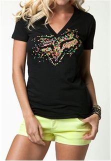 Fox Racing Womens Excite V Neck Tee