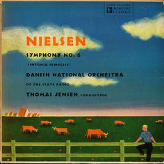 Jensen/Danish National Orchestra- Nielsen: Symphony No Label: Mercury MG Design: George Maas Mercury Records, Record Art, Orchestra, Album Covers, Nostalgia, History, Classic, Danish, Lp