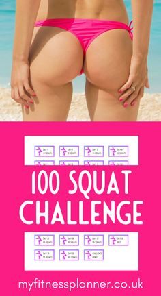 100 squat challenge with fitness planner stickers Beginner workout at home | get up to 100 squats a day with this printable fitness challenge.   It's a fitness planner stickers set  with a sticker for each day of the challenge.  Also includes instructions on how to squat and on how to print and cut the stickers | Workout planner printable from My Fitness Planner Workout Planner, Weekly Workout Plans, Fitness Planner, Workout Schedule, Printable Planner, Planner Stickers, Printables, Beginner Workout At Home, At Home Workouts