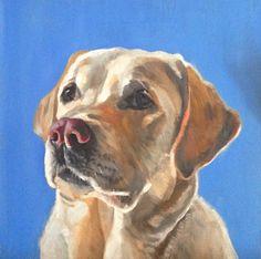 Yellow Labrador Retriever - Giclee of Original Oil Painting on Etsy, $22.00
