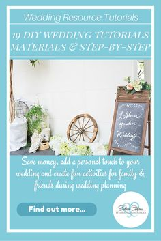 19 Remarkable DIY Wedding Tutorials Prevailing in 2016.  Includes materials and step-by-step instructions!