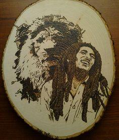 "Bob Marley  ""Iron Lion Zion""  9x13 basswood"