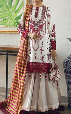 Pakistani Lawn Suits, Suits Online Shopping, Pakistani Designers, Ethnic Fashion, Fashion Dresses, Clothes, Collection, Fashion Show Dresses, Outfits