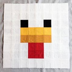 Minecraft Quilt Block - Chicken                                                                                                                                                                                 More