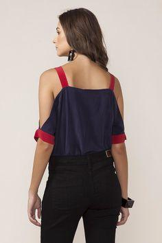 Blusa detalhe ombro bicolor| ABRAND