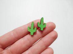 Cactus Earrings 'Saguaro' por kateslittlestore en Etsy