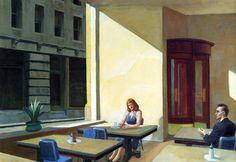 Edward Hoppe. Luci del sole in caffetteria, 1958. Olio su tela, cm. 102X152. Yale University Art Gallery