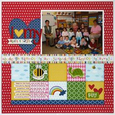 Bella Blvd Tiny Tots Preschool Layout by Mendi Yoshikawa - Scrapbook.com