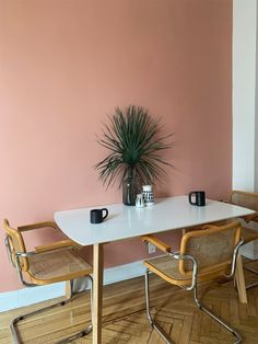 These three paint colors are Backdrop's most popular options during the coronavirus. Pink Dining Rooms, Dining Room Walls, Wall Painting Living Room, House Painting, Interior Walls, Interior Design, Pink Paint Colors, Room Wall Colors, Wall Colours