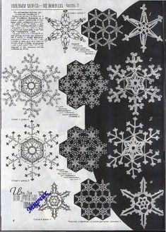 "Photo from album ""Дуплет on Yandex. Crochet Snowflake Pattern, Irish Crochet Patterns, Crochet Stars, Crochet Snowflakes, Crochet Motif, Crochet Doilies, Crochet Flowers, Crochet Christmas Ornaments, Christmas Snowflakes"