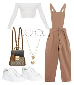 """Untitled #2035"" by vogueandmanolos ❤ liked on Polyvore featuring Alexander McQueen, Samantha Pleet, Gucci and Ahlem"