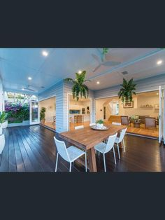 Home Renovation Outdoor 16 Doyle Street, Coorparoo, Qld 4151 - Property Details - Indoor Outdoor Living, Outdoor Rooms, Outdoor Dining, Dining Area, Outdoor Areas, Kitchen Dining, Deck Design, House Design, Alfresco Area