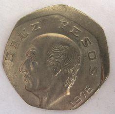 Misslag Mexico 10 pesos 1976