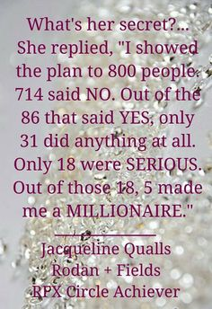 Jacqueline Qualls was in her 60's when she joined on Jan 31st...she went to an event because she was invited but had no intentions of joining! She sold steel for a living, she knew nothing about skincare! Her network was made up of construction men!!! She's been in the business 5 years! If she can do it...you can do it! #ChangingSkinChangingLIves #AnythingIsPossible