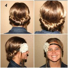 Awesome tutorial for Headband Tuck! Great for summer!