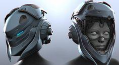 Maya - The Making of Motorcycle Helmet Design, Motorcycle Suit, Mechanical Art, Mechanical Design, Arte Cyberpunk, Iron Man Wallpaper, Robot Illustration, Futuristic Armour, Sci Fi Comics