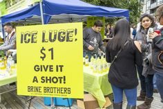 You've heard of a Pickleback shot but have you ever tried a Ice Luge Pickle shot? Join us for a Pickle Party at The Big Dill Pickle Festival. Giant Pickle, Ice Luge, Pickles, Liquor, Shots, Join, Party, Alcohol, Parties