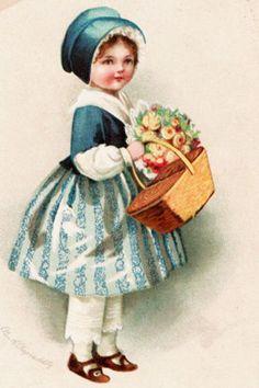 Alenquerensis: Charming Ellen Clapsaddle Easter Postcards