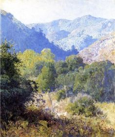 View in the San Gabriel Mountains - Rose, Guy (American, 1867 - Fine Art Reproductions, Oil Painting Reproductions - Art for Sale at Bohemain Fine Art Watercolor Trees, Watercolor Landscape, Landscape Art, Landscape Paintings, Rose Paintings, Rose Art, Orlando, San Gabriel Mountains, American Impressionism