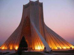 Azadi Square in Tehran, Iran.