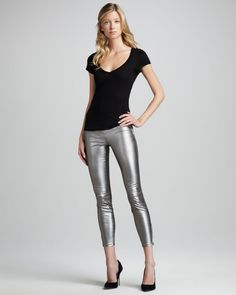 Lovely Leather Leggings : Comely Leather Leggings