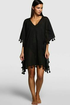 Women& caftan in the summer 2015 collection of El Corte Inglés Diy Clothes, Clothes For Women, Beach Kimono, Chiffon Kimono, Beachwear Fashion, Light Dress, Summer Outfits, Summer Dresses, Valentine's Day Outfit
